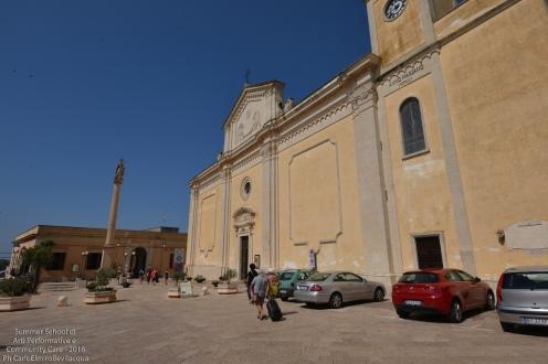 Piazza Concordia: stiamo raggiungendo Palazzo Ramirez che sarà il nostro presidio per un giorno