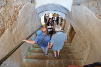 Scendiamo in un ex-frantoio, oggi sede dell'Ecomuseo della Pietra leccese