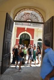 Ci aprono le porte di Palazzo Liborio Romano dove faremo base per tutte le attività della giornata
