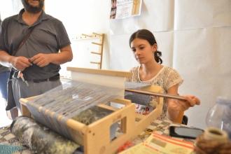Il Laboratorio dimostrativo di telaio a cura del Centro di Cultura Popolare di Melpignano, con Salvatore Gervasi e la sua famiglia